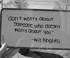 quote, wiz khalifa, and worry image