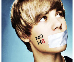 tape, justin bieber, and no h8 image