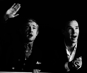 Martin Freeman and benedict cumberbatch image