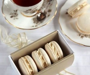 macarons and tea | via Tumblr