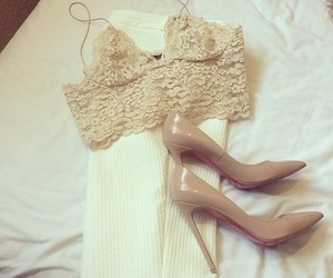 heels, lace, and shoes image