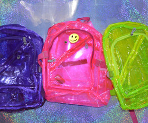 bag, pink, and green image