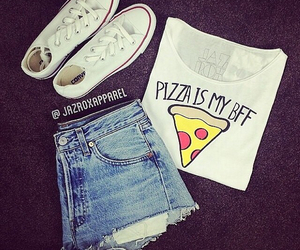 pizza and converse image
