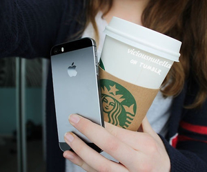iphone, starbucks, and tumblr image