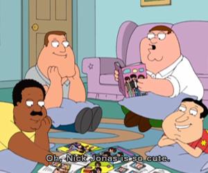 nick jonas, family guy, and funny image