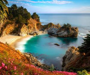 beach and california image