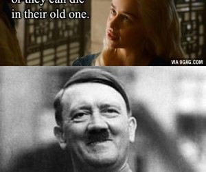 adolf hitler, funny, and joke image