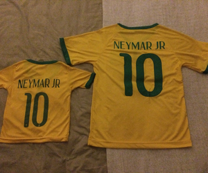 foot, bresil, and neymar image