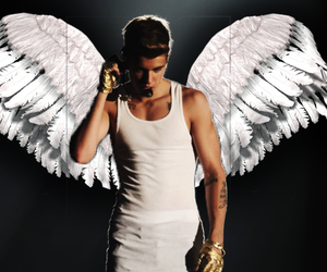 justin bieber, angel, and justin image