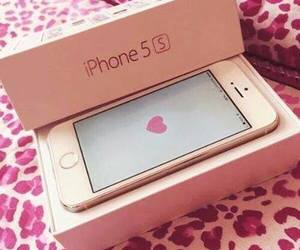 iphone, pink, and heart image