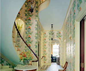 floral, stairs, and stair image