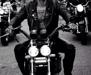 beard, biker, and boy image