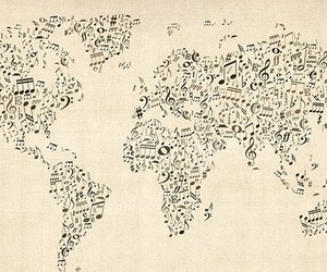 amor, musica, and notas musicales image