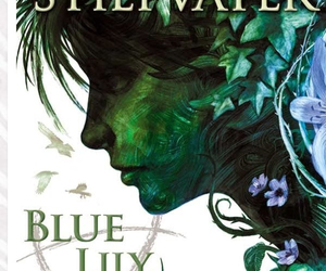 maggie stiefvater, blue lily lily blue, and blue image