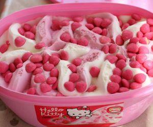 hello kitty, ice cream, and pink image