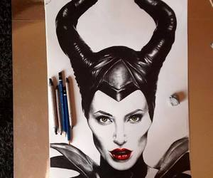 maleficent, draw, and art image