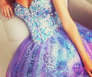 blue, fashion, and corset dress image