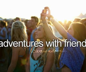 friends, adventure, and summer image