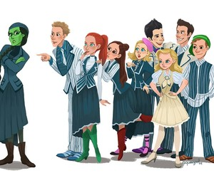 broadway, glinda, and Wizard of oz image