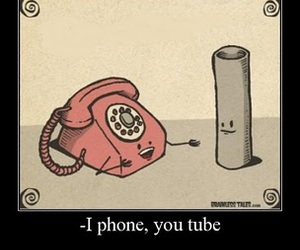 iphone, phone, and youtube image