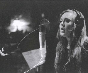 Adele, black and white, and singer image