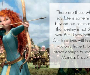 brave, disney, and fate image