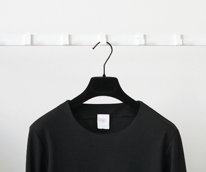black, black and white, and clothes image
