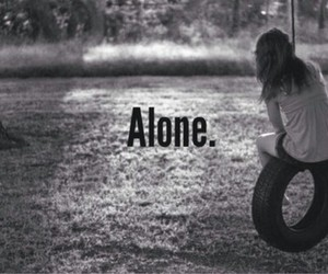 alone, girl, and sad image