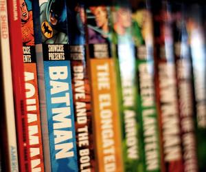book, comics, and batman image