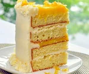 cake, lemon, and buttercream image