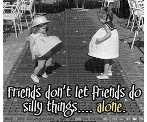 best friends, funny, and silly image