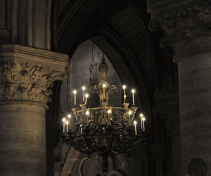 dark, chandelier, and Darkness image