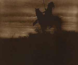 horse and native american image