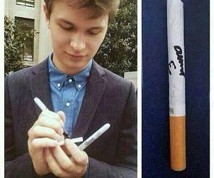 ansel elgort, the fault in our stars, and autograph image