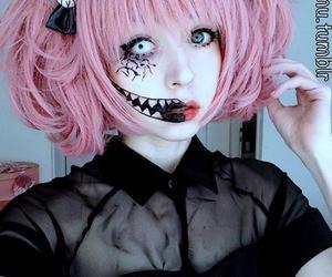 dyed hair, kawaii, and loli image