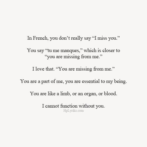 How to spell i love u in french