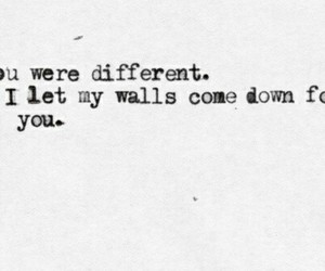different, wall, and quote image