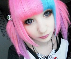 cutie, dyed hair, and kawaii image