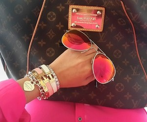 pink, Louis Vuitton, and sunglasses image