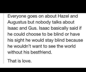 isaac, love, and the fault in our stars image