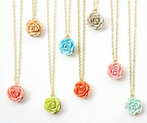 flower, gold, and jewelry image