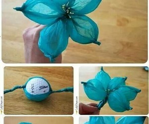 blue, diy, and flower image