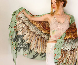 bird, wings, and scarf image