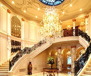 design, staircase, and gold image