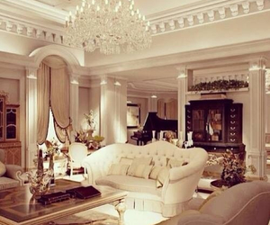 design, gold, and living room image