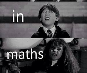 harry potter, maths, and school image