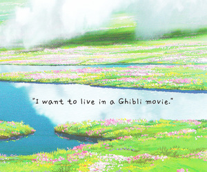 ghibli, i want, and text image