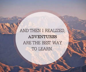quote, adventure, and travel image