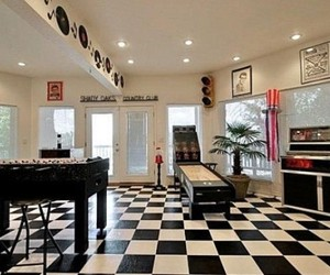 basement game room, basement game room ideas, and game room bar image