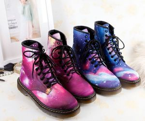 shoes, boots, and galaxy image